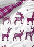 covers co flanell bettw 228 sche elroy wei 223 lila wintermotive 2tlg 135x200 cm ebay