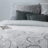 s oliver mako satin bettw sche 5066 820 grau ornamente cm ebay. Black Bedroom Furniture Sets. Home Design Ideas