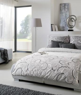 s oliver mako satin bettw sche 5066 820 grau ornamente. Black Bedroom Furniture Sets. Home Design Ideas