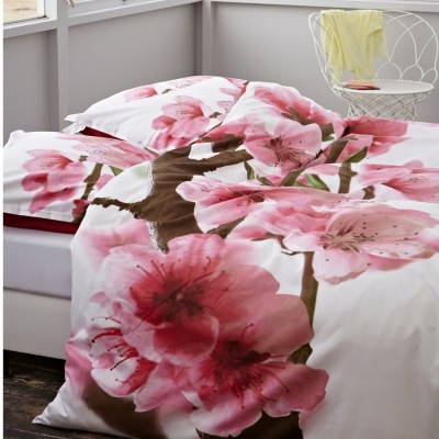 essenza satin bettw sche amelie pink kirschbl ten cm ebay. Black Bedroom Furniture Sets. Home Design Ideas
