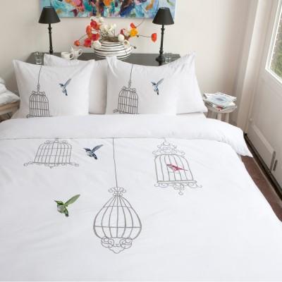 hnl wei e bettw sche cm christina baumwolle perkal mit stickerei ebay. Black Bedroom Furniture Sets. Home Design Ideas