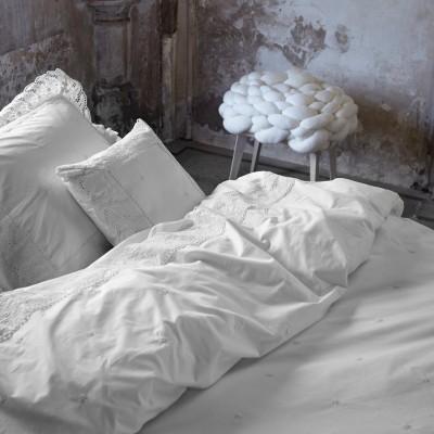 essenza perkal bettw sche josephine wei 2 cm ebay. Black Bedroom Furniture Sets. Home Design Ideas