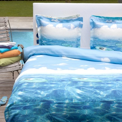 hnl mako satin bettw sche lars blau 2 cm ebay. Black Bedroom Furniture Sets. Home Design Ideas