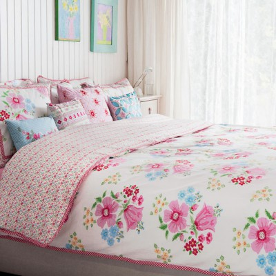room seven bettw sche water flower pink cm ebay. Black Bedroom Furniture Sets. Home Design Ideas