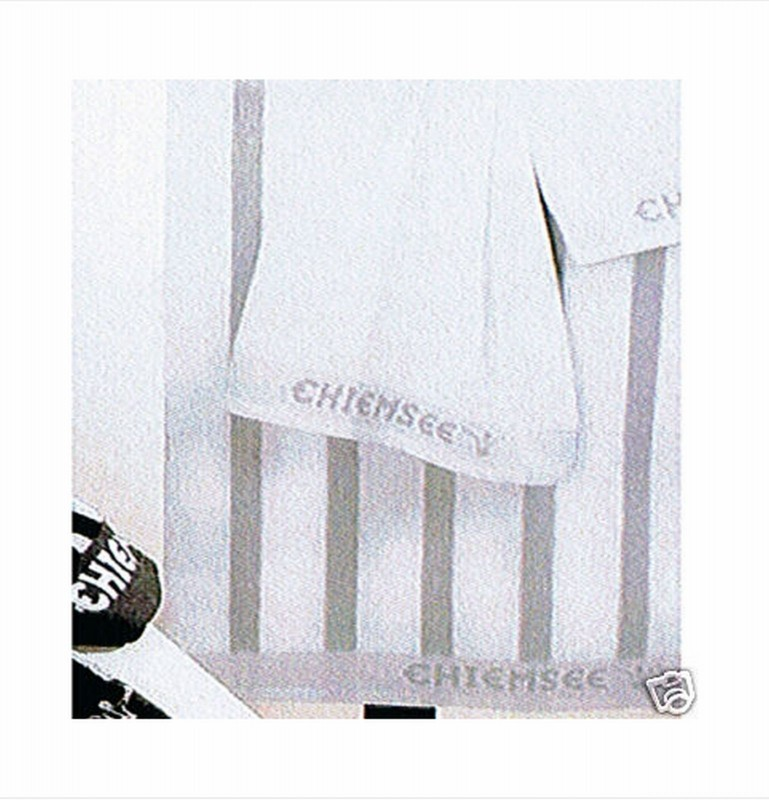 chiemsee handtuch 2er set 50x100 weiss grau gestreift. Black Bedroom Furniture Sets. Home Design Ideas