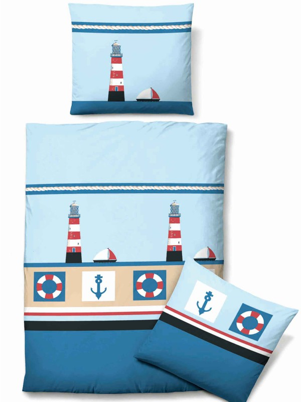 biberna linon bettw sche maritim ebay. Black Bedroom Furniture Sets. Home Design Ideas