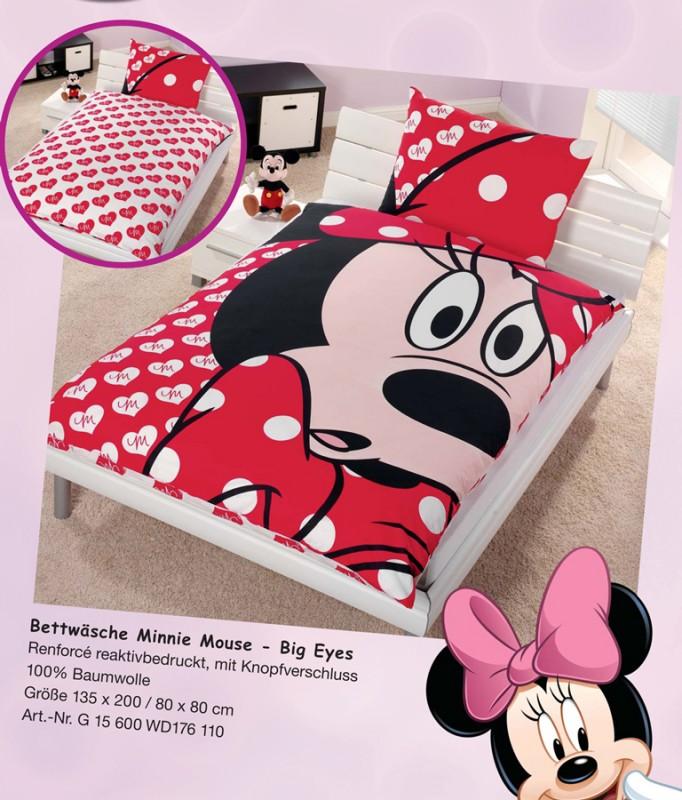 disney bettw sche minnie mouse big eyes cm renforce ebay. Black Bedroom Furniture Sets. Home Design Ideas