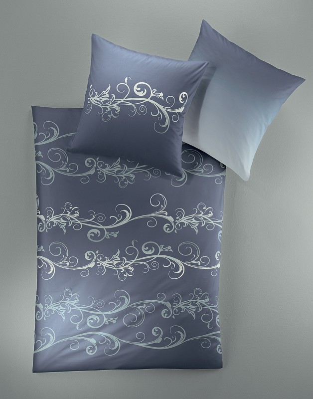 irisette bettw sche mako satin capri blau cm ebay. Black Bedroom Furniture Sets. Home Design Ideas