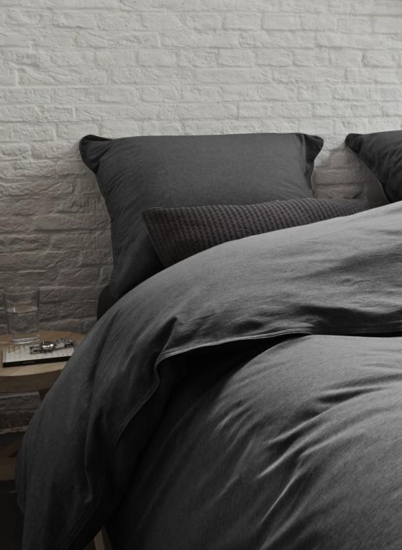 essenza jersey bettw sche ella uni anthracite 2tlg. Black Bedroom Furniture Sets. Home Design Ideas