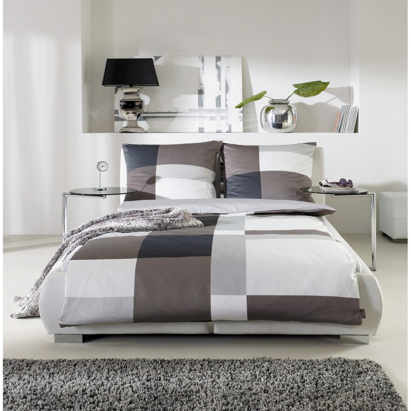 s oliver bettw sche 2tlg 135x200 cm mako satin graut ne 5067 300 ebay. Black Bedroom Furniture Sets. Home Design Ideas