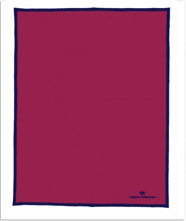 wohndecke 150x200 tom tailor farbe purpur rot ebay. Black Bedroom Furniture Sets. Home Design Ideas