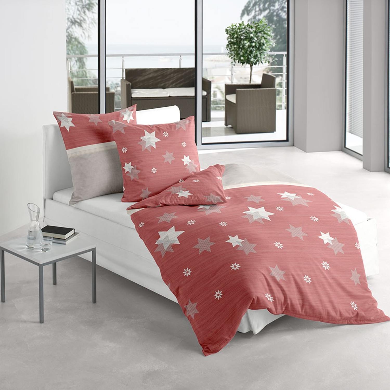 irisette bettw sche davos 8336 60 rot edel feinbiber 4919. Black Bedroom Furniture Sets. Home Design Ideas