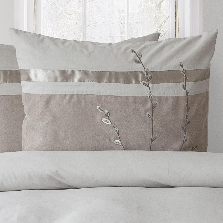 hnl perkal bettw sche harriet taupe 3117. Black Bedroom Furniture Sets. Home Design Ideas