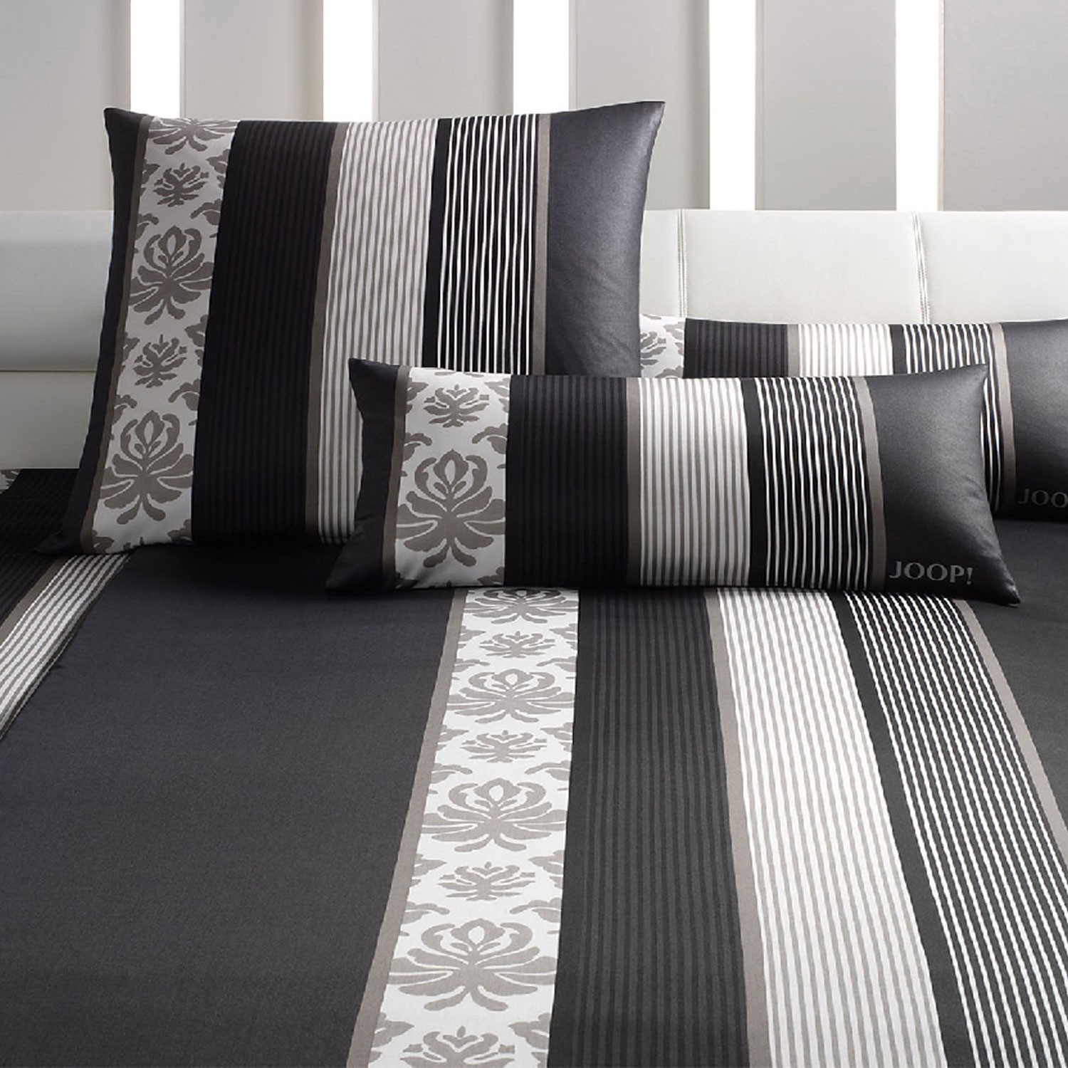 joop bettw sche ornament stripes 4022 09 schwarz 3303. Black Bedroom Furniture Sets. Home Design Ideas