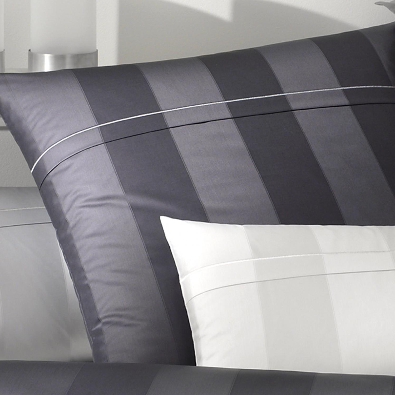 Elegante Bettwäsche Garde Jacquard-Satin 2052-0 weiß