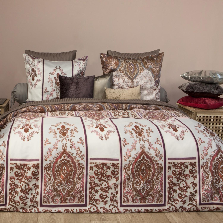 hnl premium satin bettw sche monti rot 3573. Black Bedroom Furniture Sets. Home Design Ideas