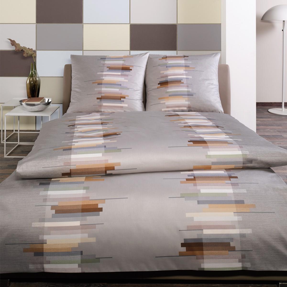estella mako satin bettw sche lean 7858 820 silber 3964. Black Bedroom Furniture Sets. Home Design Ideas
