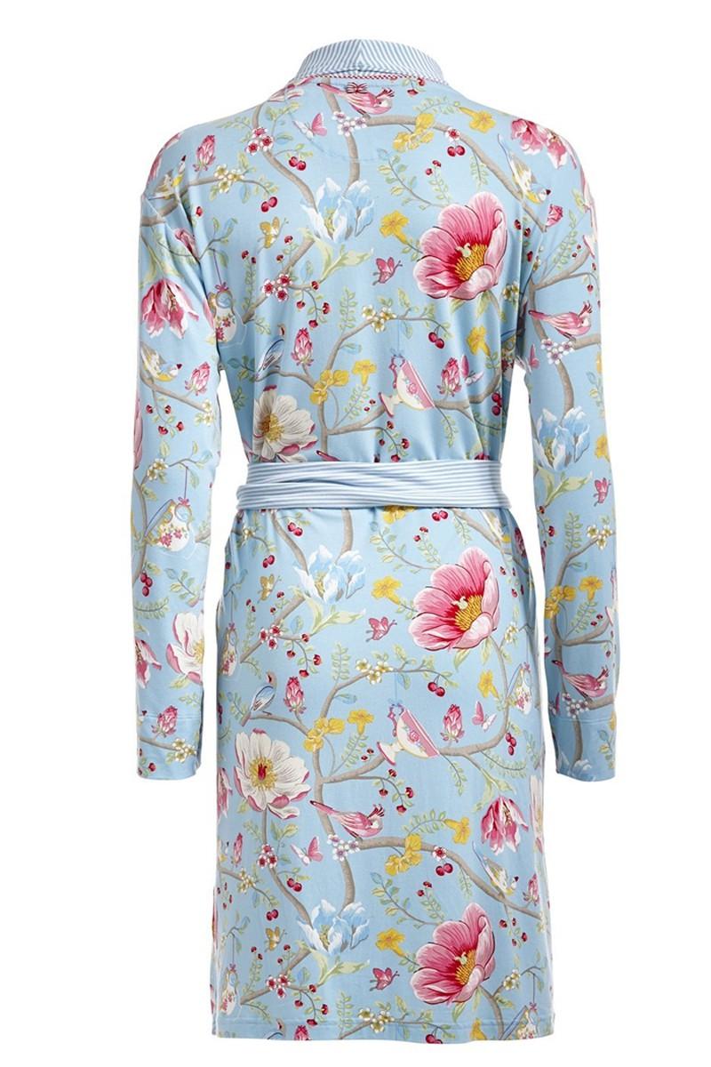 pip damen kimono morgenmantel nella chinese garden blau. Black Bedroom Furniture Sets. Home Design Ideas