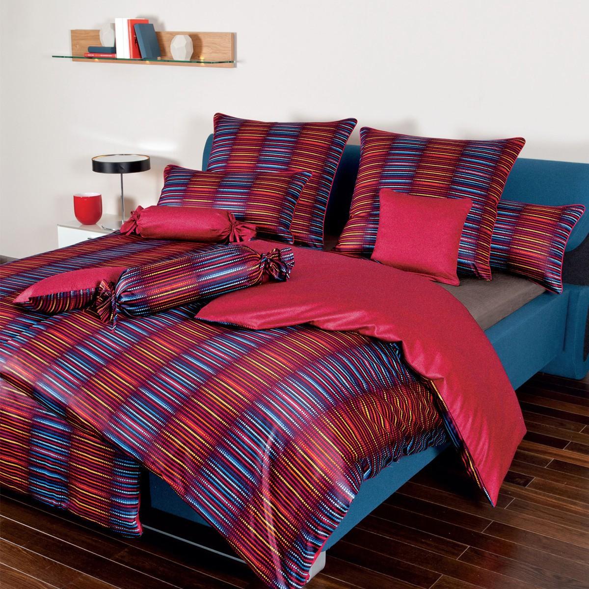 janine interlock feinjersey bettw sche carmen 5457 01 rot orange blau 3967. Black Bedroom Furniture Sets. Home Design Ideas