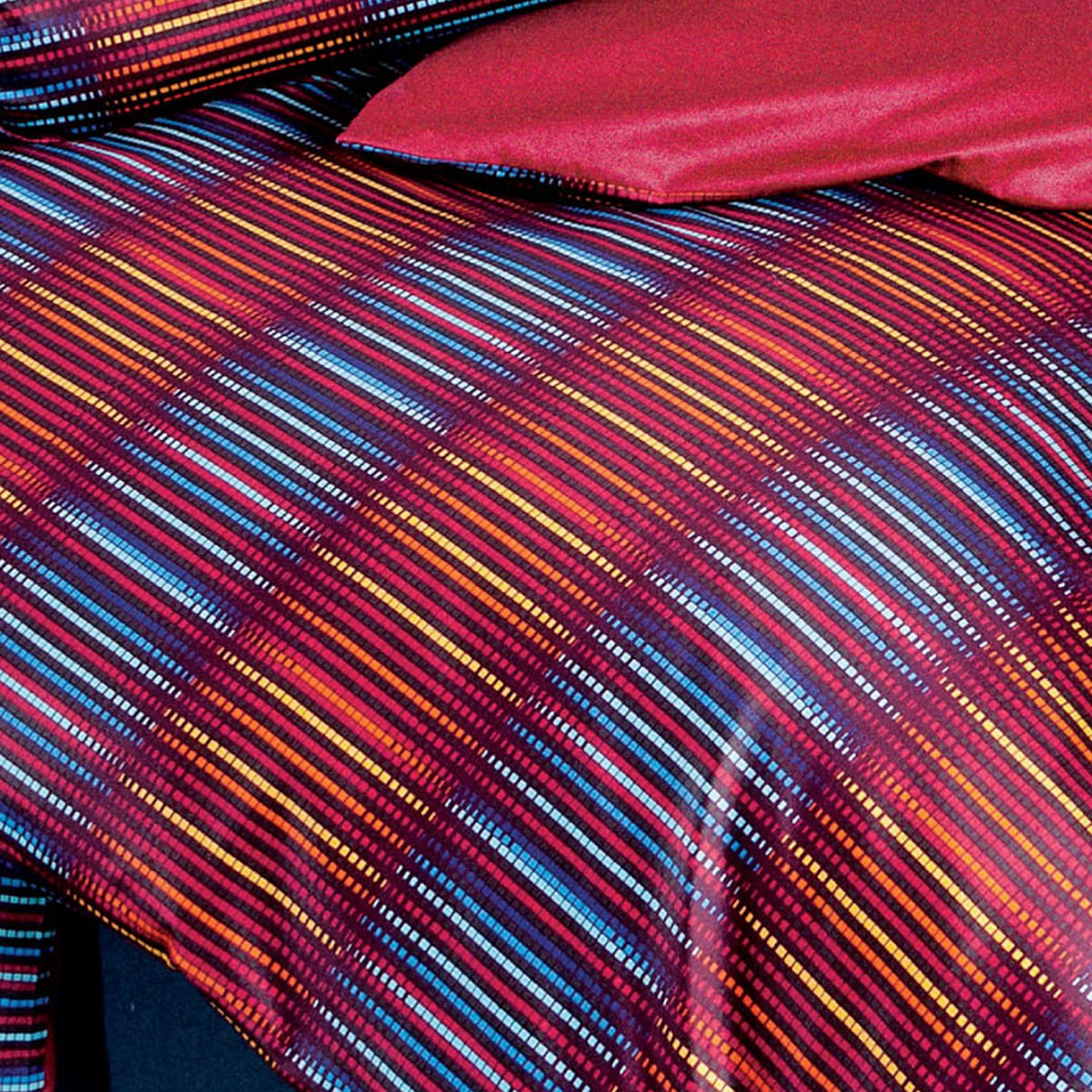 janine interlock feinjersey bettw sche carmen 5457 01 rot orange blau 3967. Black Bedroom Furniture Sets. Home Design Ideas