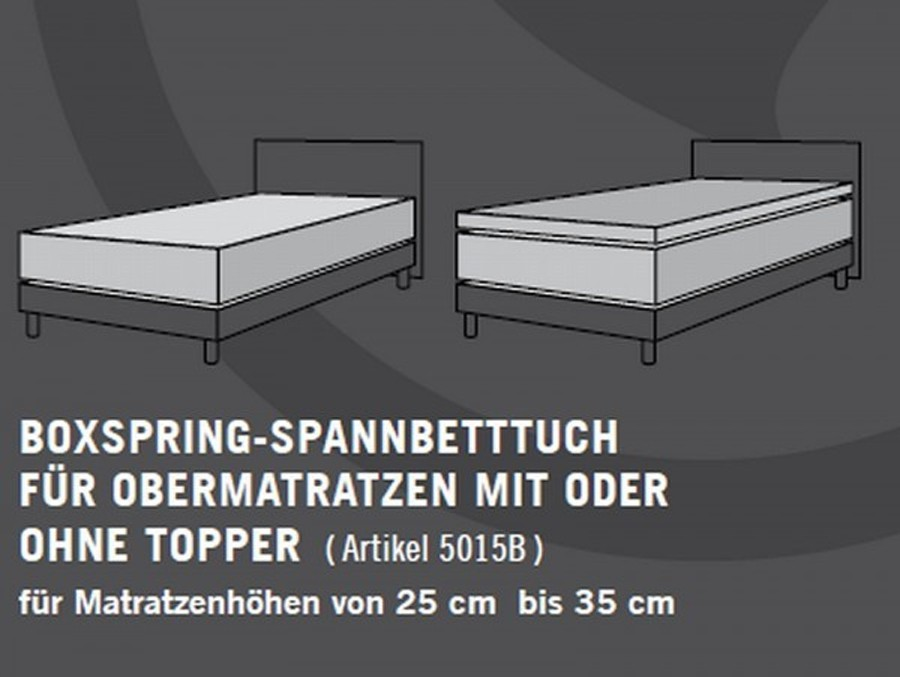 schlafgut boxspring spannbettlaken 180x200 200x220 cm 693. Black Bedroom Furniture Sets. Home Design Ideas